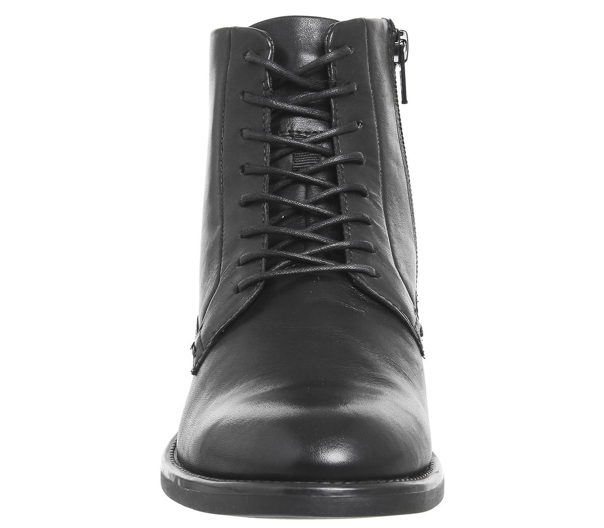 damen vagabond amina lace boots schwarz schwarz leder. Black Bedroom Furniture Sets. Home Design Ideas