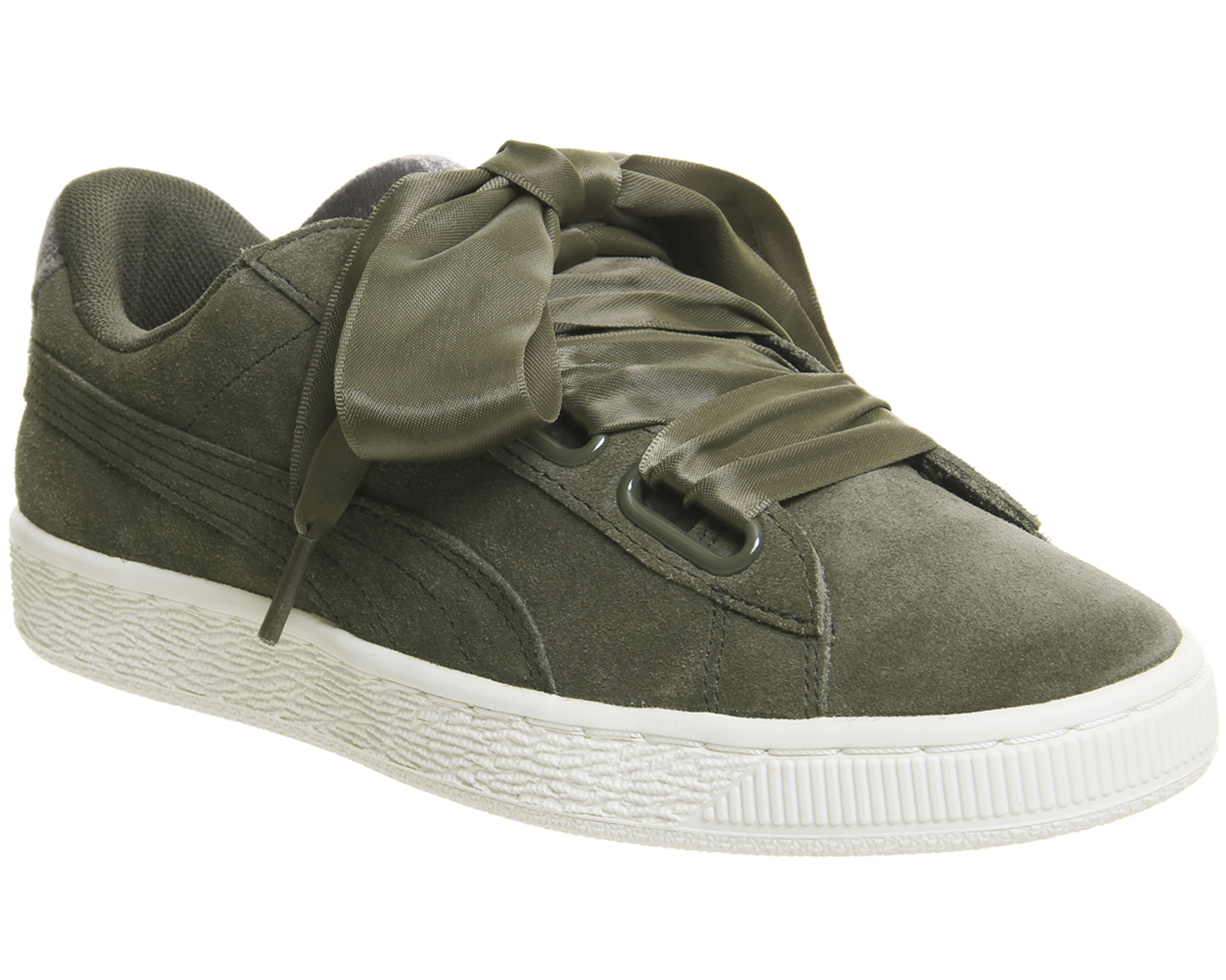 b3c159ae4896 Details about Womens Puma Suede Heart OLIVE NIGHT GOLD VELVET ROPE Trainers  Shoes