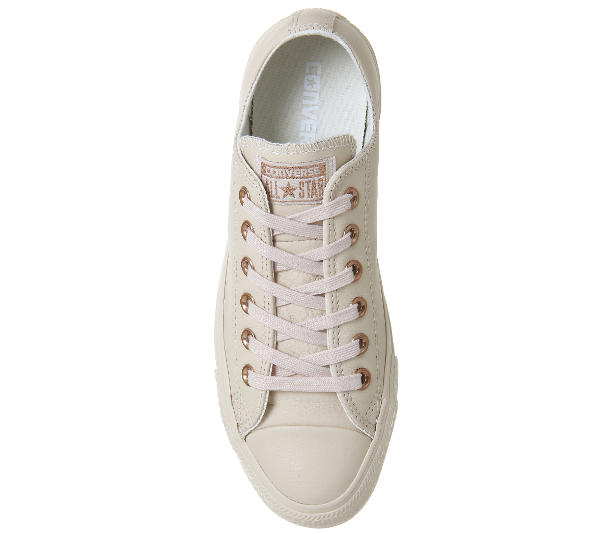 Damenschuhe Converse All Star Niedrig Leder PASTEL TAN ROSE TAN PASTEL ROSE GOLD Trainers Schuhes 295350