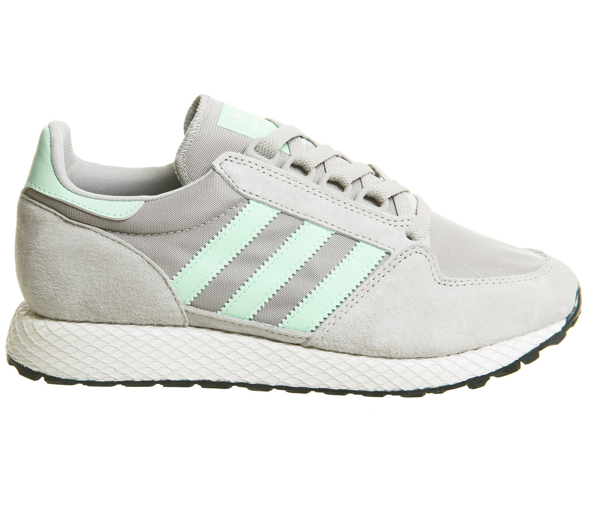 best service 678f5 5a5d2 SENTINEL Womens Adidas Forest Grove formatori sesamo nero scarpe da  ginnastica scarpe bianco