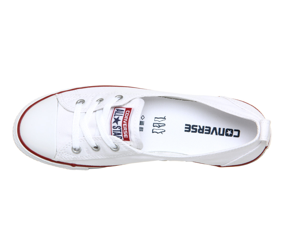 5e8c53aaa962e7 Sentinel Womens Converse Ctas Ballet Lace Optical White Trainers Shoes