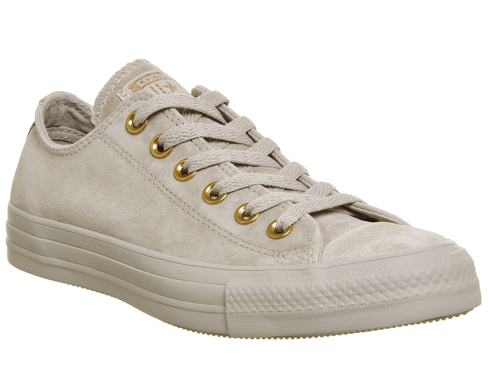 d38da3d2fa519d Sentinel Womens Converse All Star Low Leather Mushroom Blush Gold Trainers  Shoes