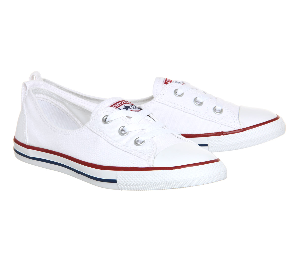 Damenschuhe Damenschuhe Damenschuhe Converse Ctas Ballet Lace Optical Weiß Trainers Schuhes 670ab3