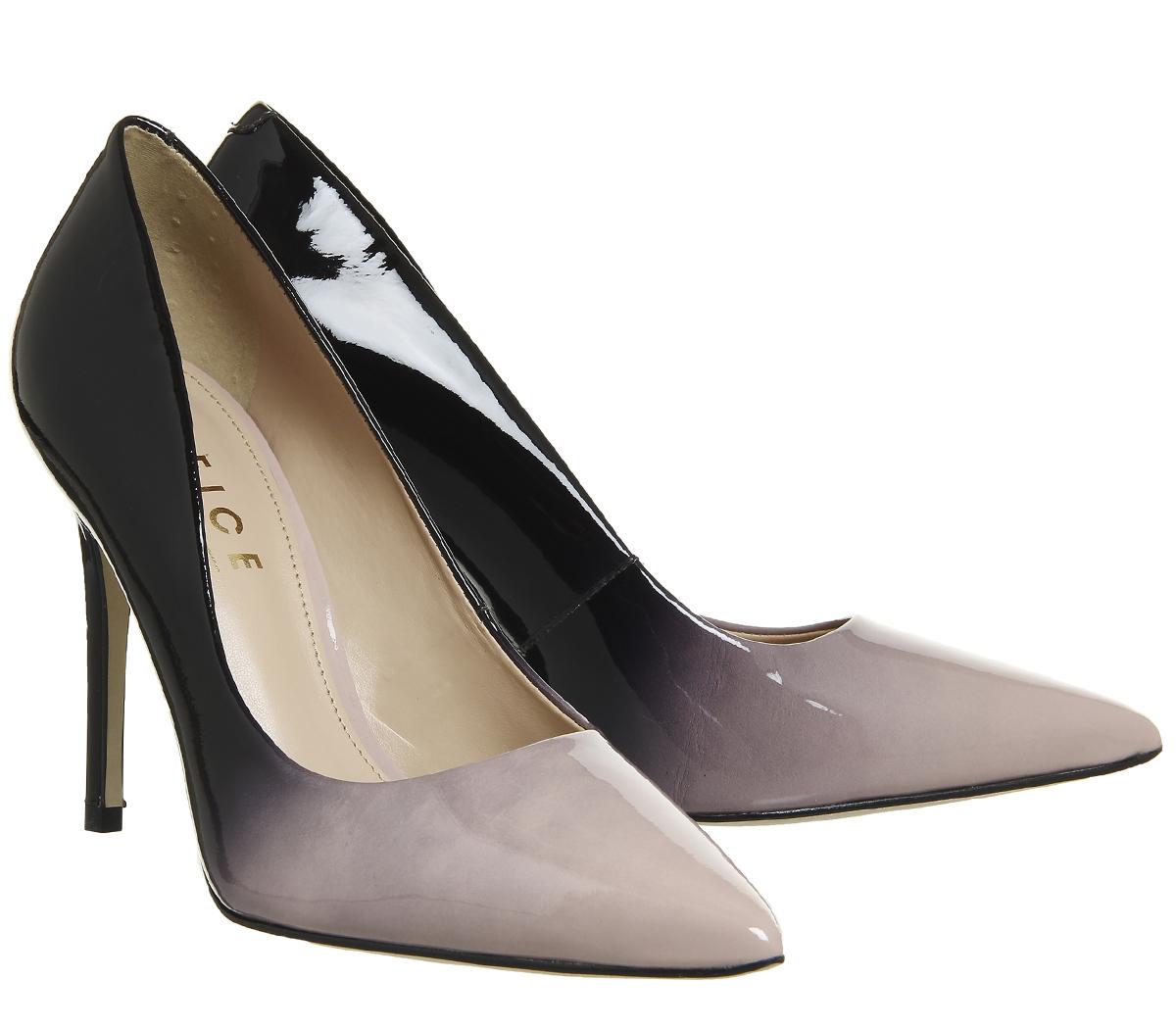 Womens Office Hombre Ombre Point Court Heels BLBCK NUDE Heels