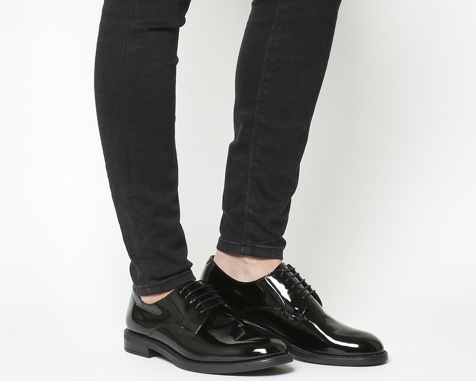 Sentinel Womens Vagabond Amina Lace Shoes Black Patent Flats 91e01e220