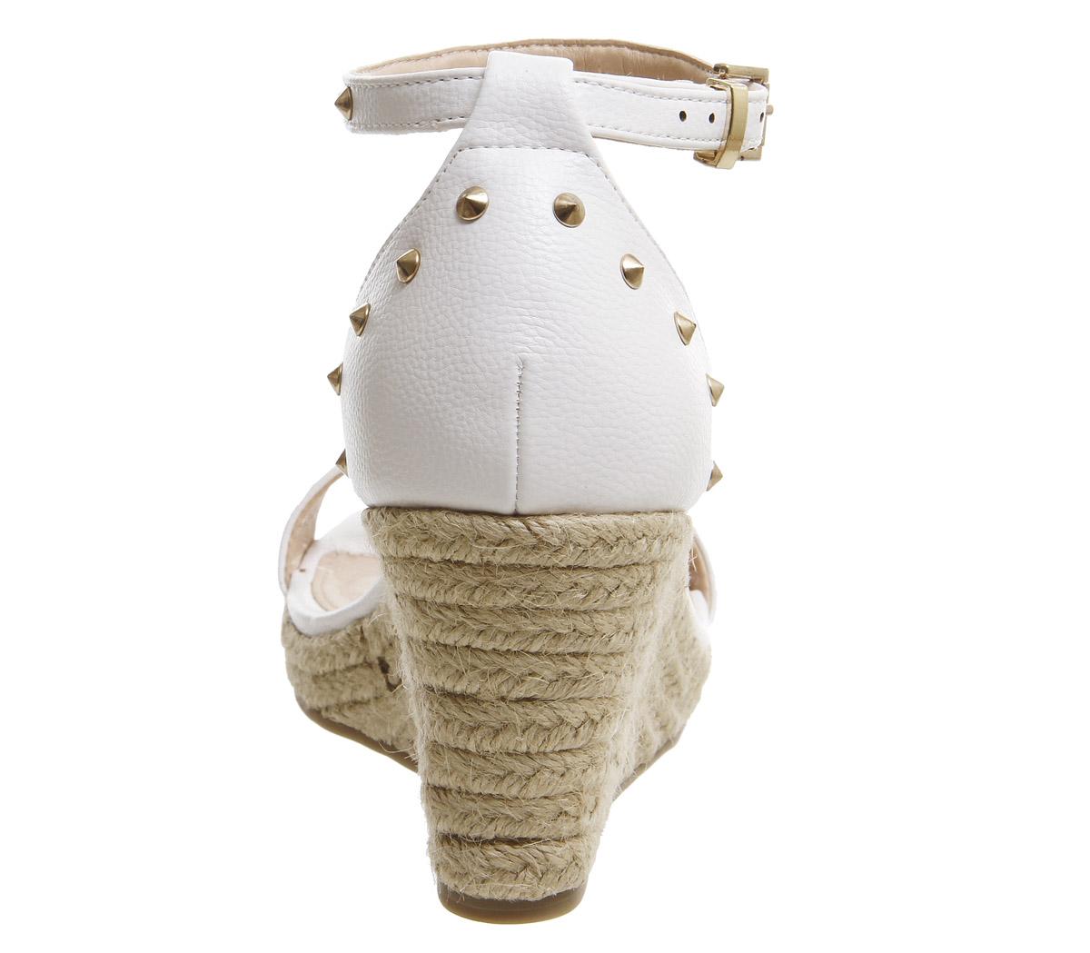 Damenschuhe Office Music Studded Wedge Espadrilles Weiß Weiß Espadrilles Heels 68911f