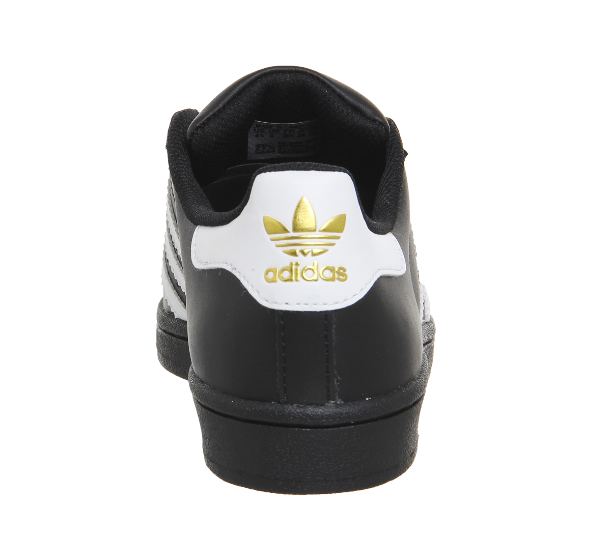 online store fbc90 c6896 Sentinel Womens Adidas Superstar Black White Foundation Trainers Shoes