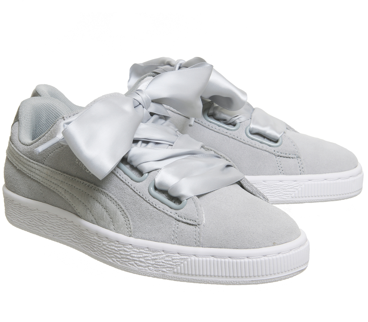 Womens Puma Suede Heart SAFARI METALLIC SAFARI Trainers Shoes
