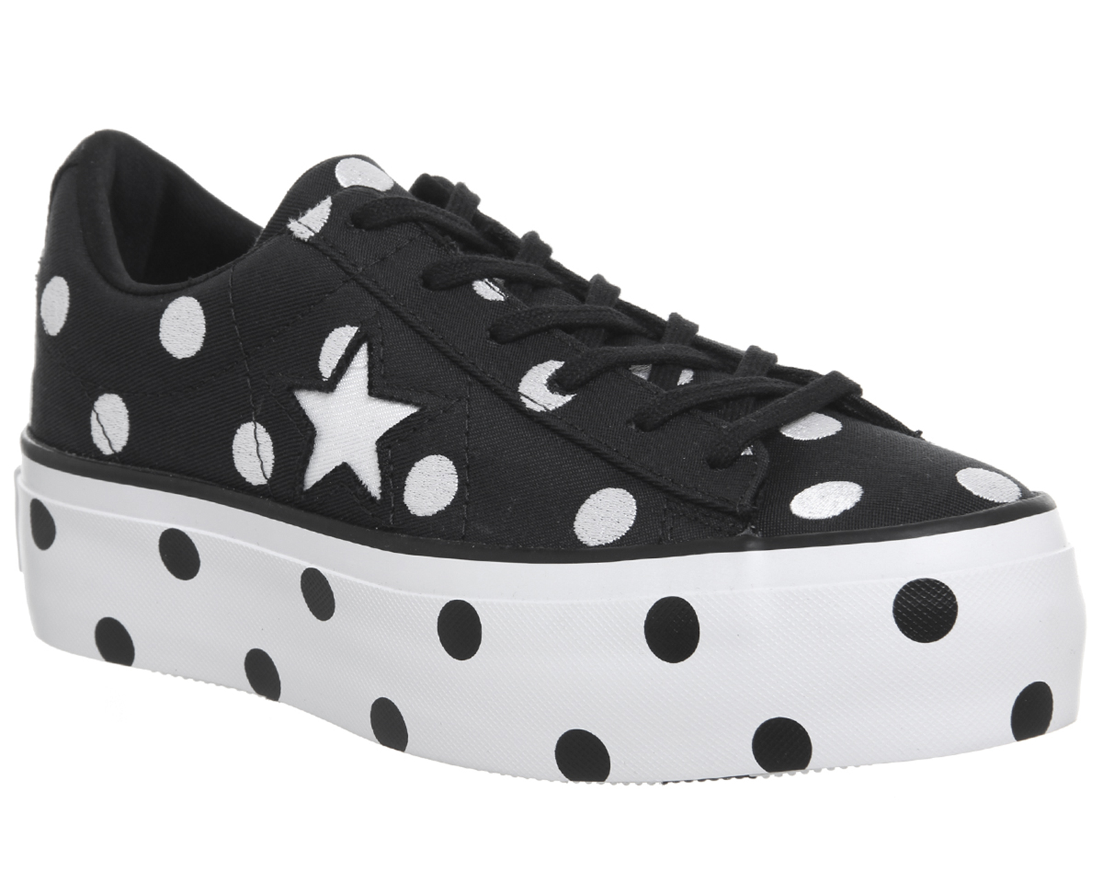 fc19ac95d9e3 Sentinel Thumbnail 1. Sentinel Womens Converse One Star Platforms Black  White ...