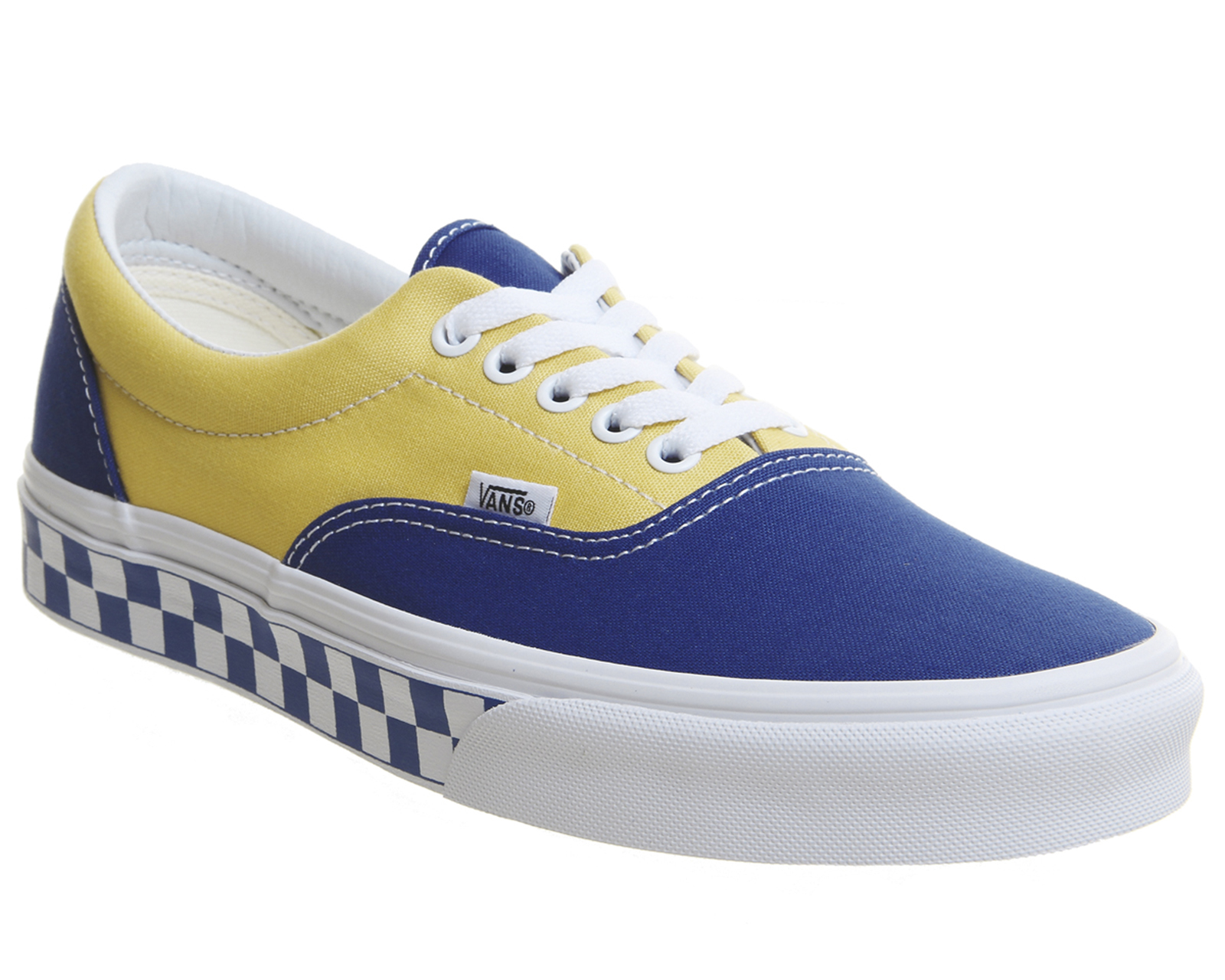 36df802020 Sentinel Thumbnail 1. Sentinel Vans Era Trainers True Blue Yellow  Checkerboard Trainers Shoes