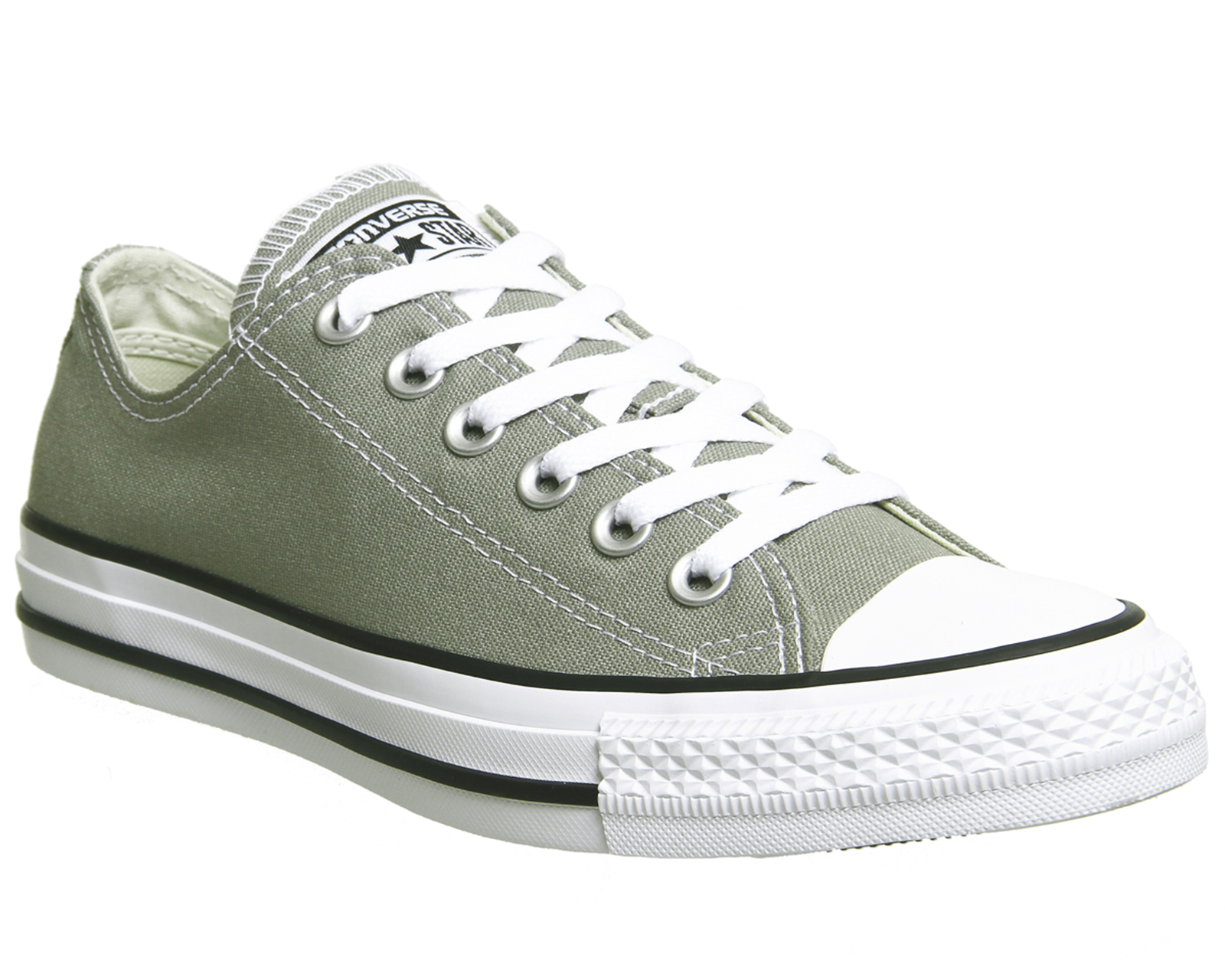 eca561bc224e8b Sentinel Mens Converse Converse All Star Low Dark Stucco Trainers Shoes