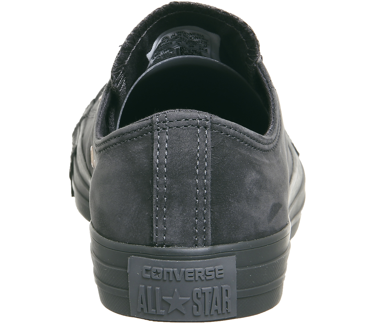 078479ce0feda2 Womens Converse All Star Low Leather Almost Black Rose Gold Trainers ...