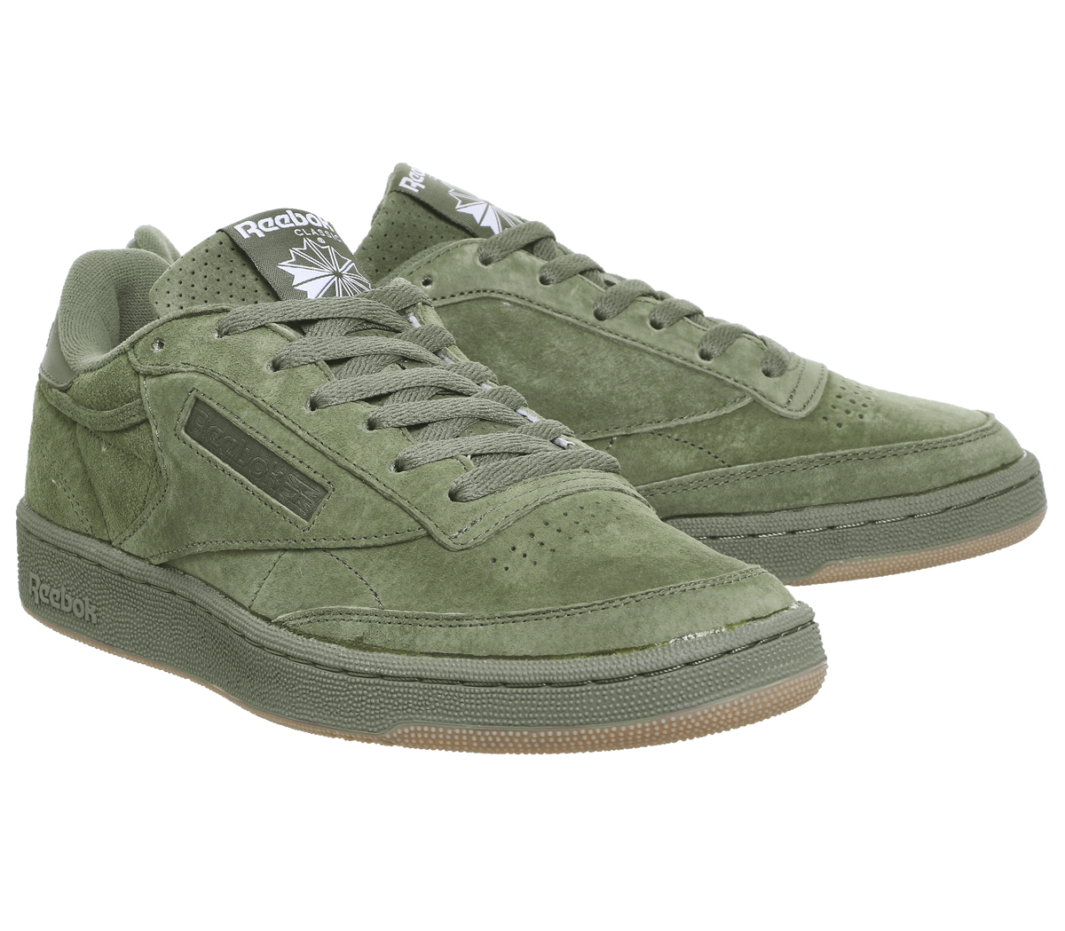 38d7f783923 Reebok Club C85 Trainers HUNTER GREEN GUM SG Trainers Shoes