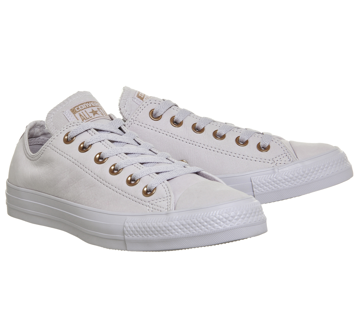 fa82fb40aec3 Womens Converse All Star Low Leather BARELY VIOLET ROSE GOLD ...