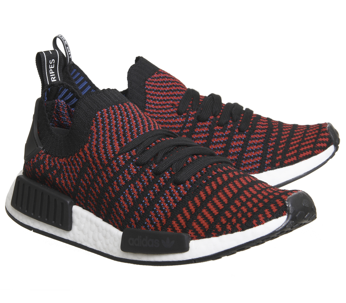 40bc82e4863 Adidas Nmd R1 Prime Knit Core Black Red Trainers Shoes