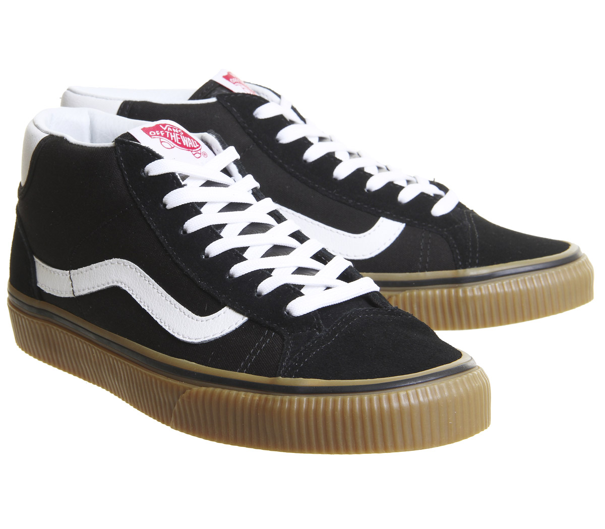 Womens Vans Mid GUM Skool 37 Trainers BLACK GUM Mid Trainers Shoes 4b8d48