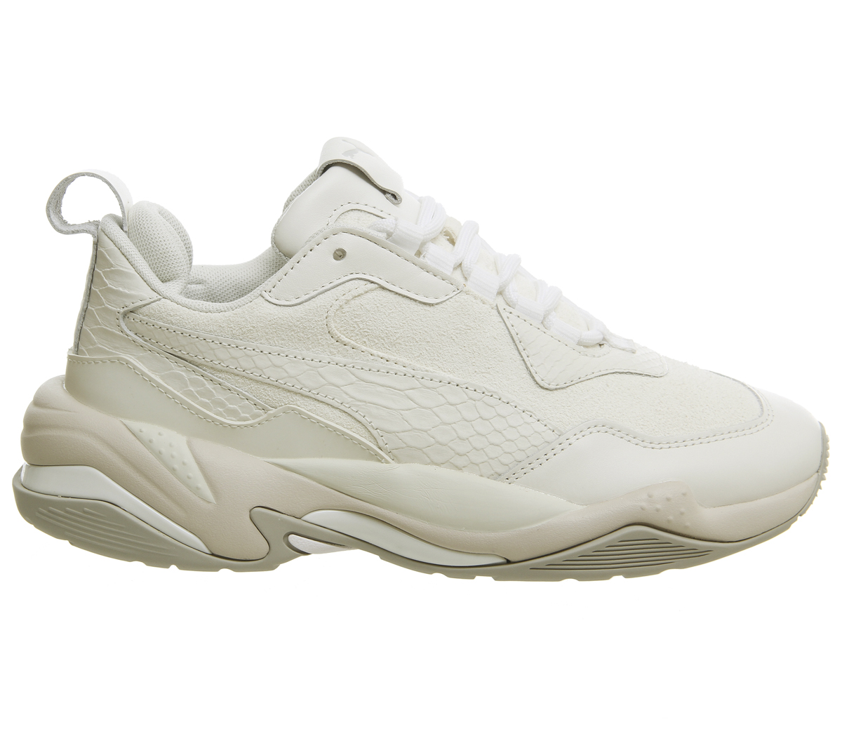 9f8f72ea8f3 Puma Thunder désert Baskets Bright White Star Gris Violet Baskets ...