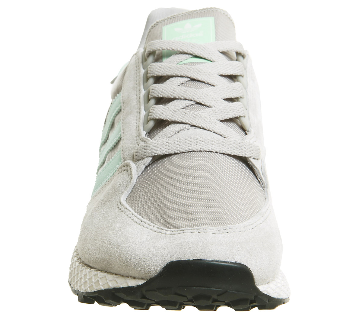 best service 66e72 edf7c SENTINEL Womens Adidas Forest Grove formatori sesamo nero scarpe da  ginnastica scarpe bianco