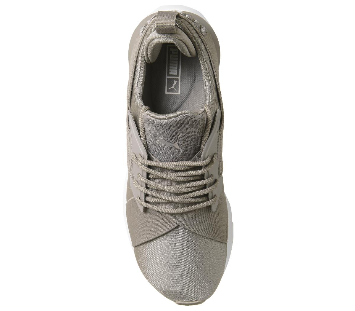 0a8787d9222292 Sentinel Womens Puma Puma Muse X Strap Trainers Rock Ridge Puma White Trainers  Shoes