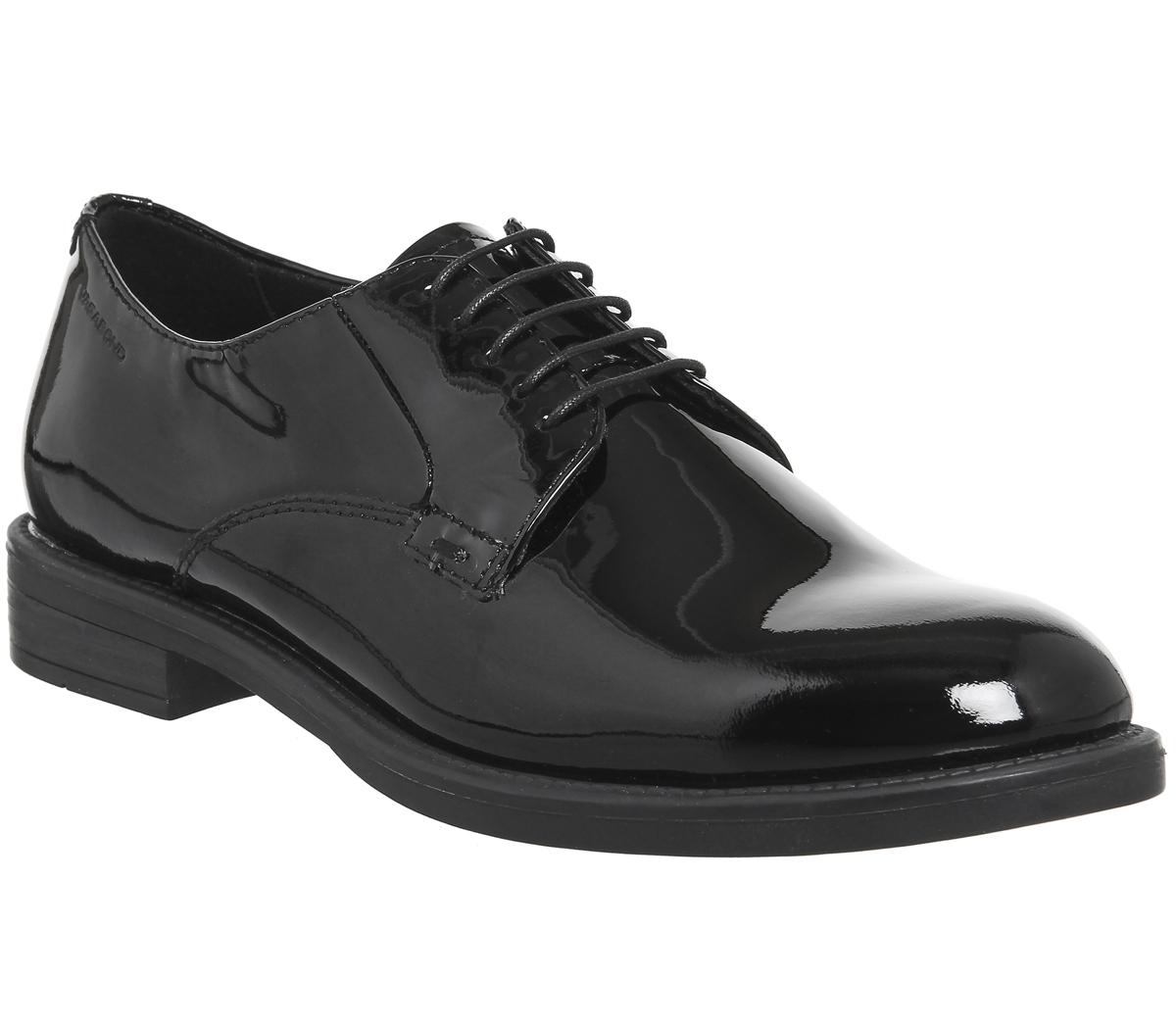 Damenschuhe Amina Vagabond Amina Damenschuhe Lace Schuhes BLACK PATENT Flats 0257bd
