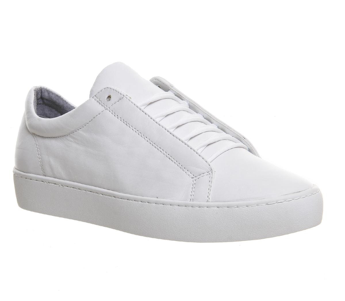 86b57d137c Sentinel Womens Vagabond Zoe Lace Sneaker WHITE LEATHER Flats