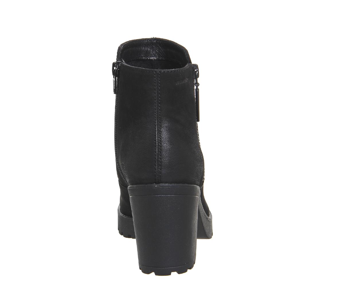 8ef707710f69a1 Womens-Vagabond-Grace-Zip-Boots-Black-Nubuck-Boots thumbnail