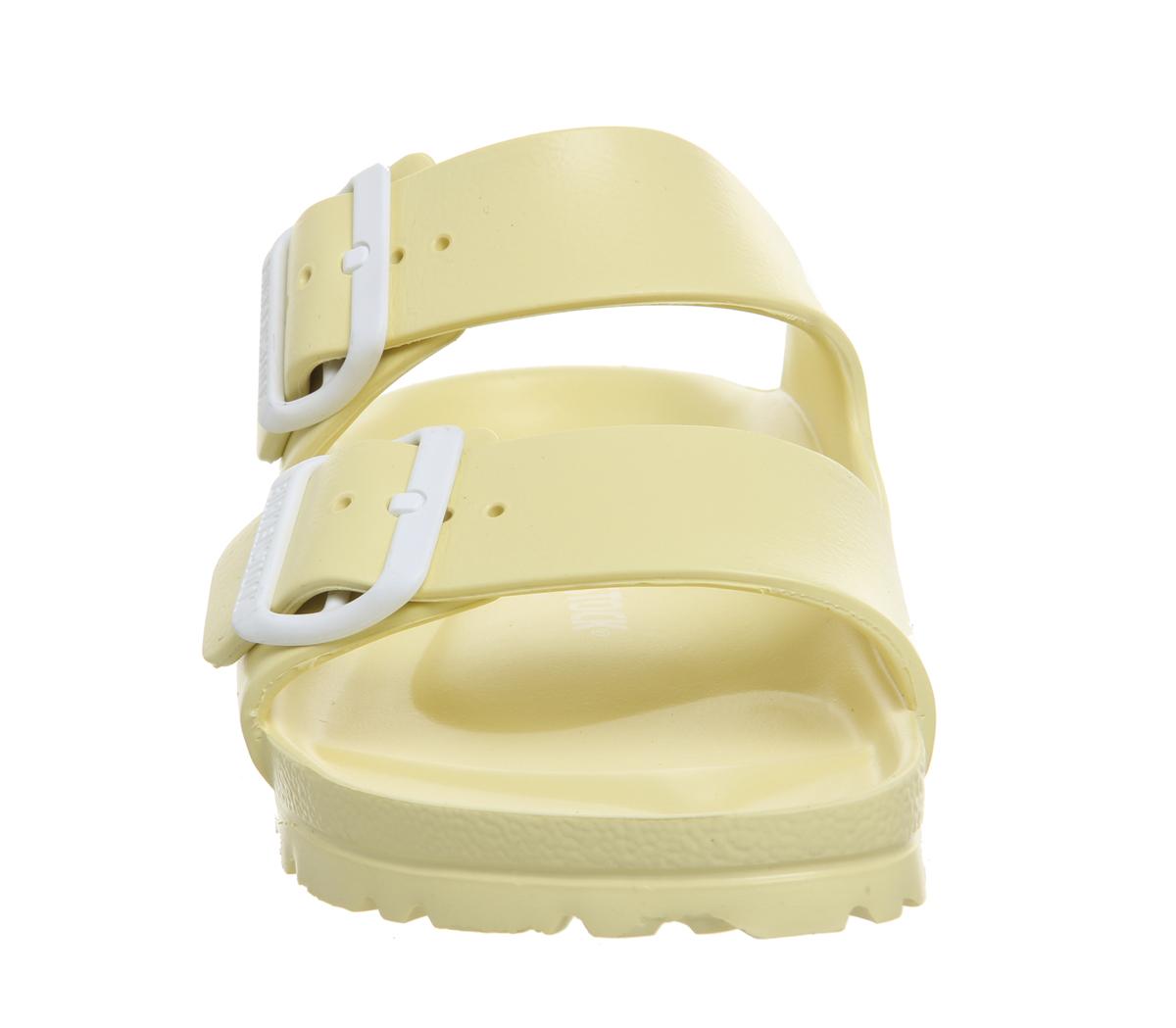 SENTINEL Womens Birkenstock Arizona due sandali con cinturino morbido  giallo Sandali EVA c0a0e5d33ae
