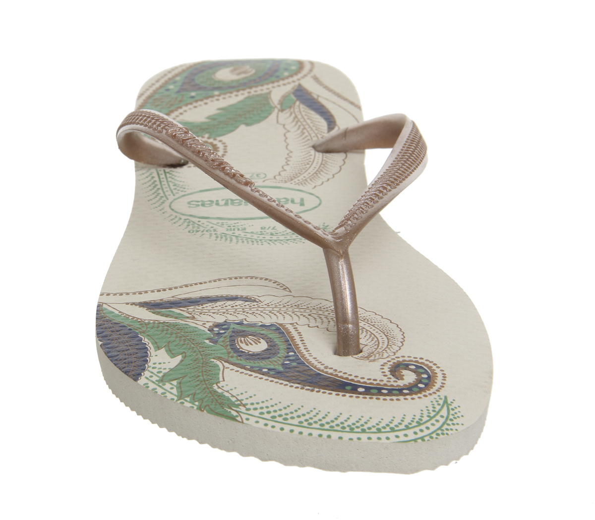 Womens Havaianas Sandals Slim Organic Flops Flip Beige wUdRBwvqC