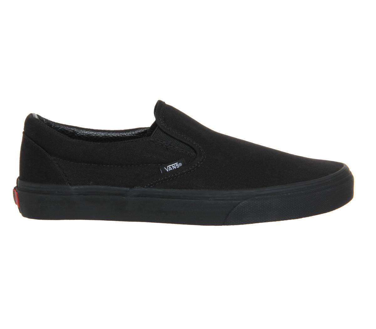 44c3a46d0aa CENTINELA Hombres Vans Classic Slip instructores formadores MONO negro  zapatos
