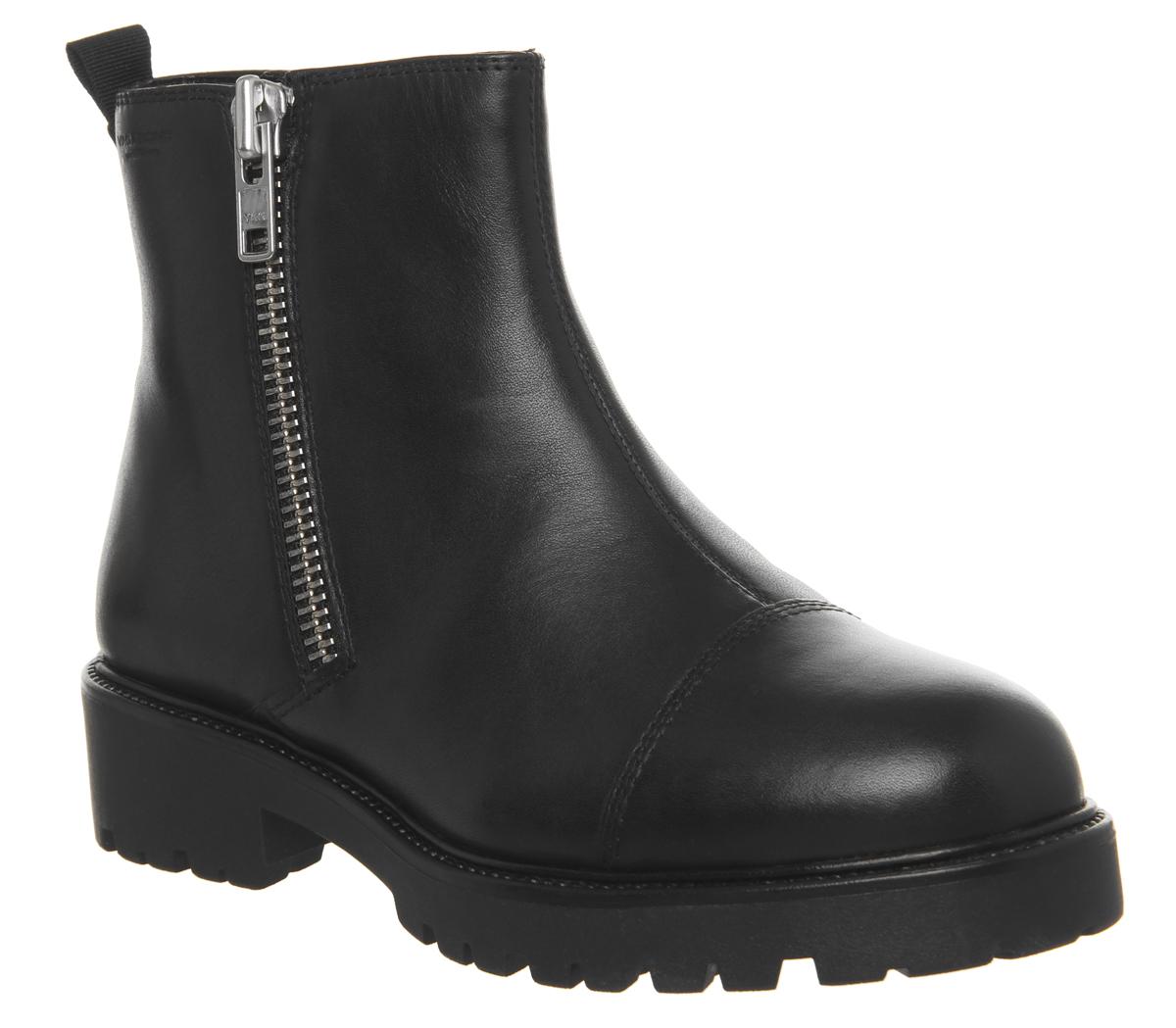 Botas Lateral para mujer Vagabond Kenova Cremallera Lateral Botas Botas De Cuero Negro c609f7