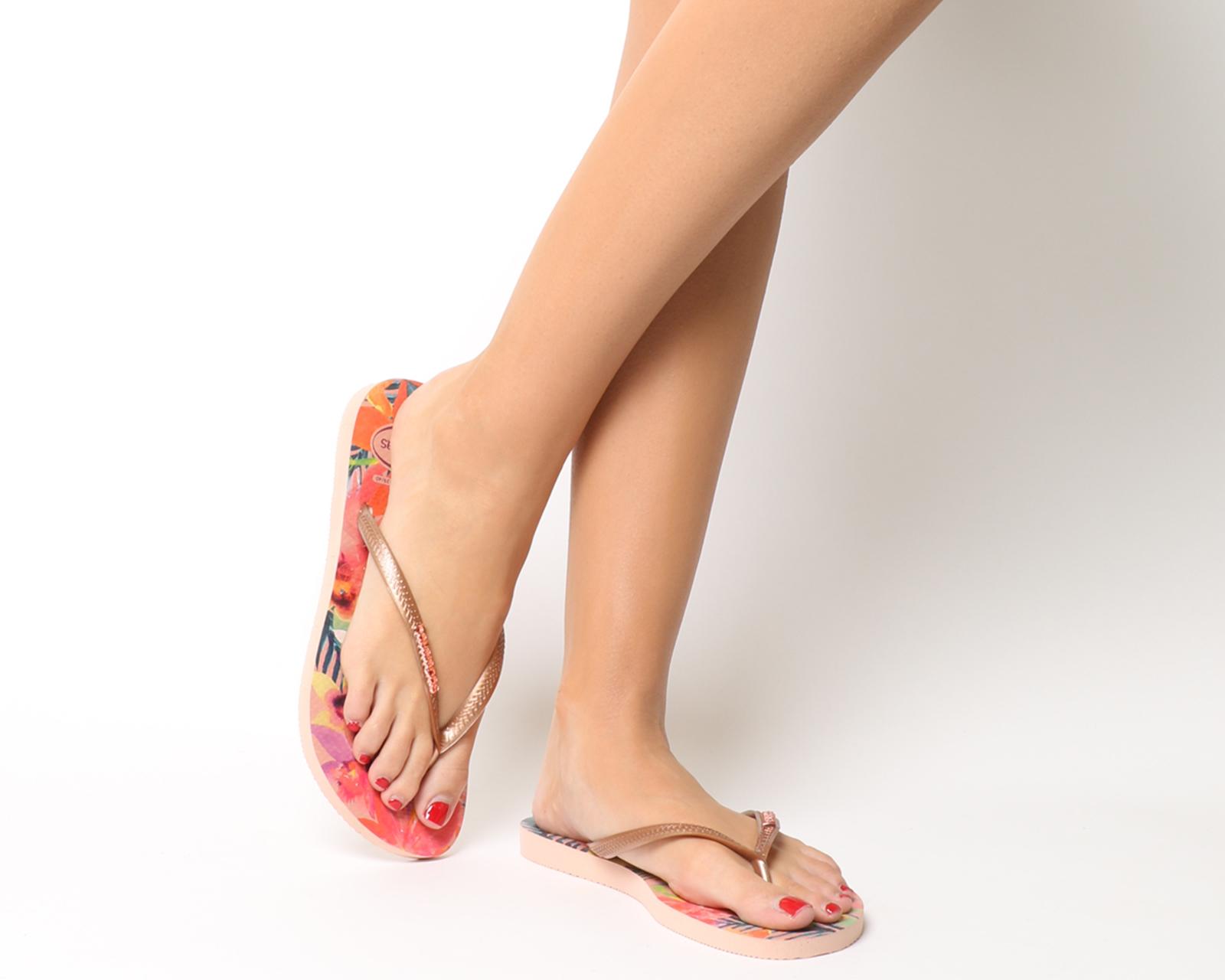 f06858c416326 Sentinel Womens Havaianas Slim Tropical Flip Flops Ballet Rose Sandals
