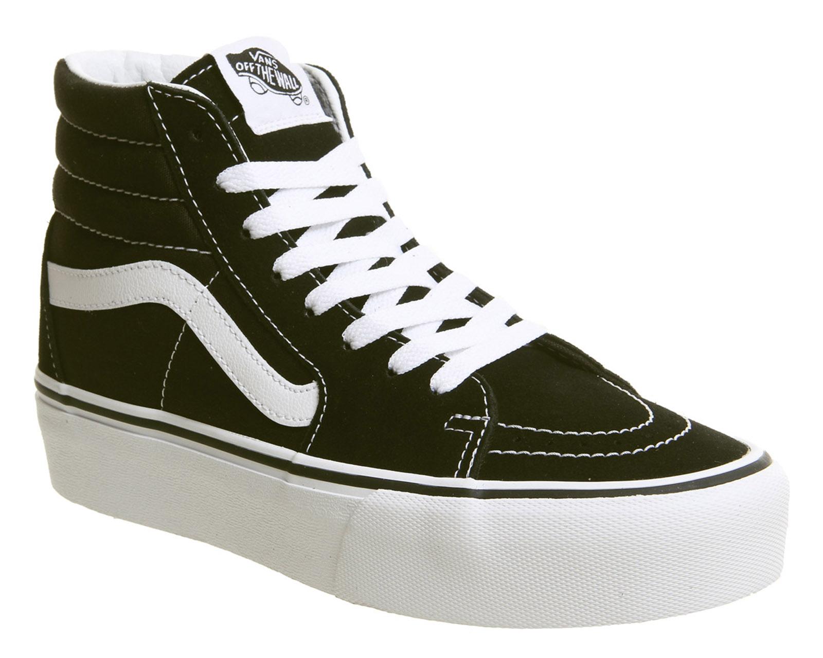 e82b1bd7ba9395 Détails sur Chaussures Femme Vans Sk8 Hi Platform 2.0 Baskets Noir Vrai  Blanc Baskets Chaussures- afficher le titre d'origine