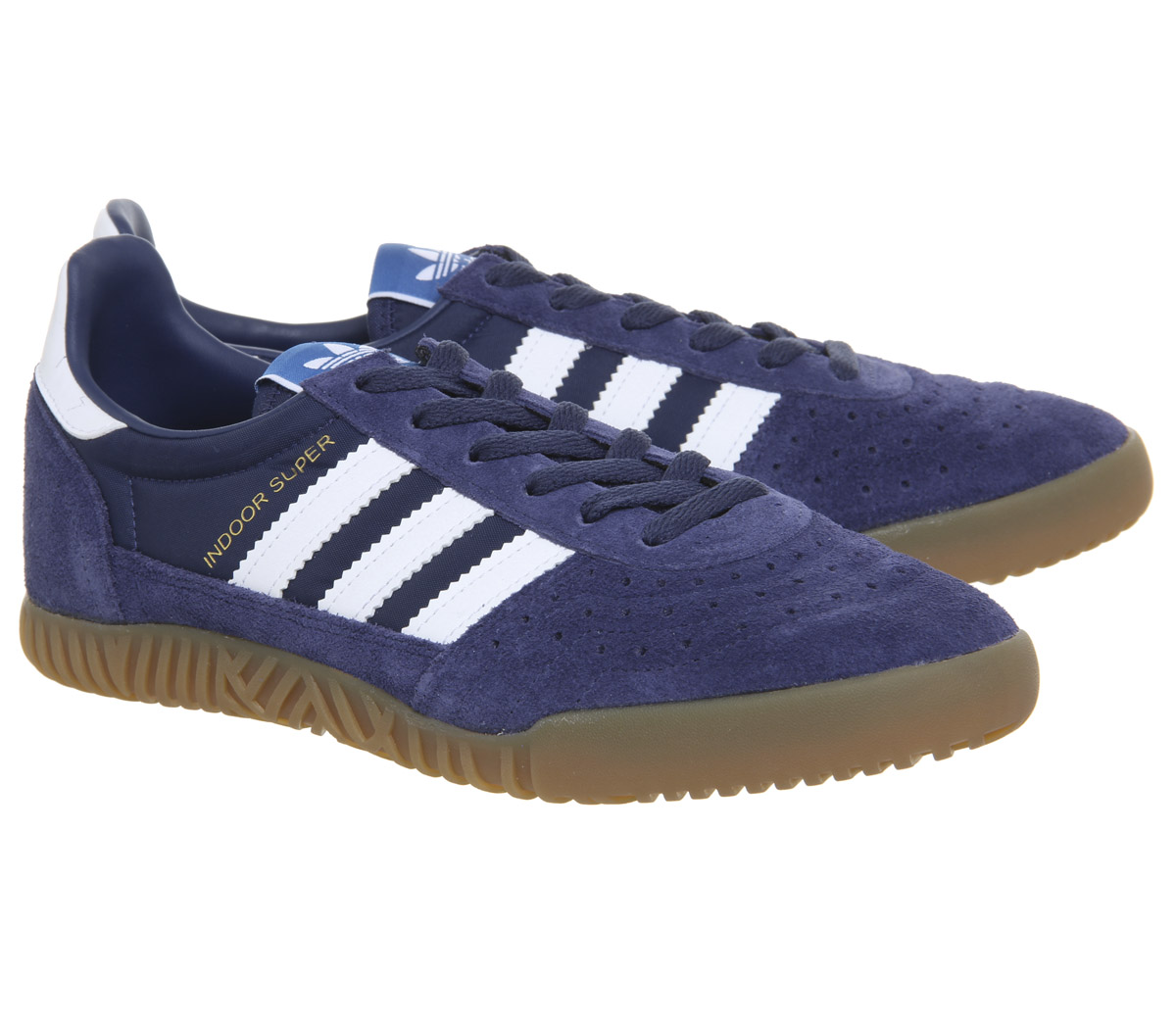 1ffb3c78b387 Sentinel Adidas Indoor Super Trainers Noble Indigo White Gum Trainers Shoes