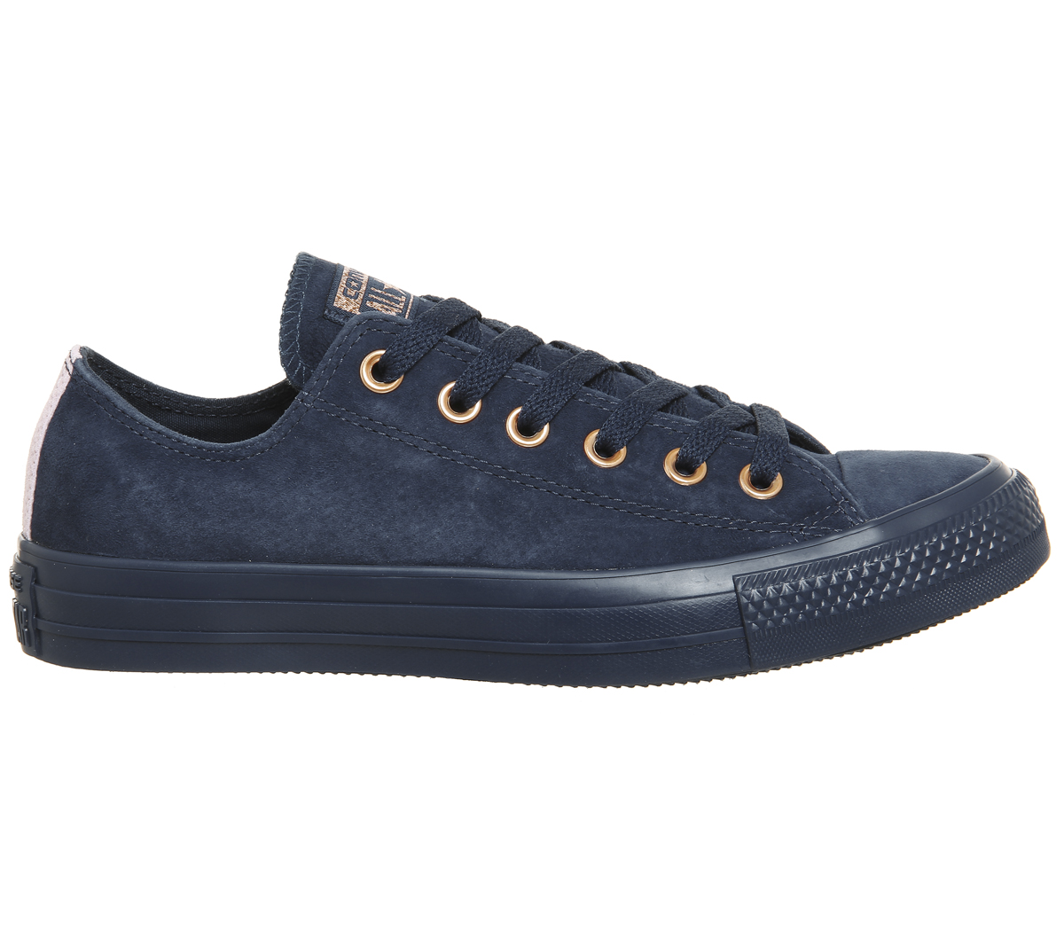 f8818781c61839 Sentinel Womens Converse All Star Low Leather Navy Cherry Blossom Exclusive  Trainers Shoe