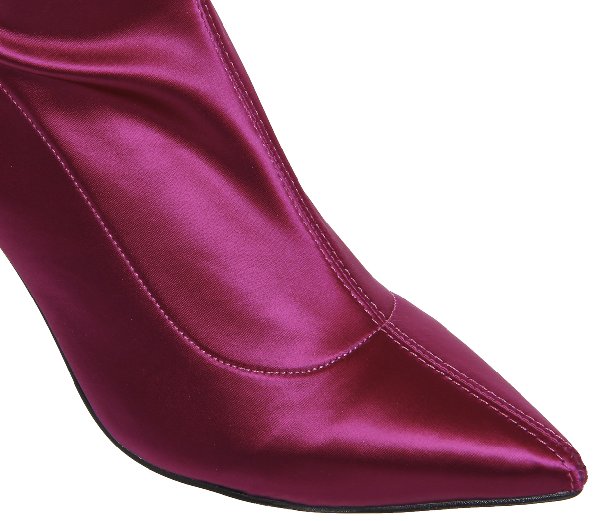 Damenschuhe Office Kiss And Tell Over SATIN The Knee Stiefel BERRY SATIN Over STRETCH Stiefel 6ba4db