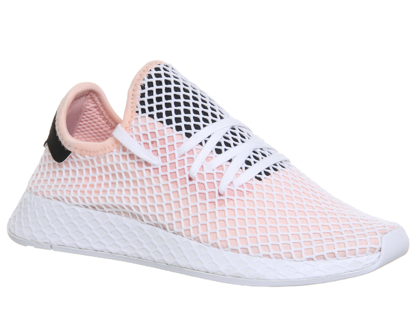 4b854f48333 Details about Mens Adidas Deerupt Trainers Pink White Core Black Trainers  Shoes