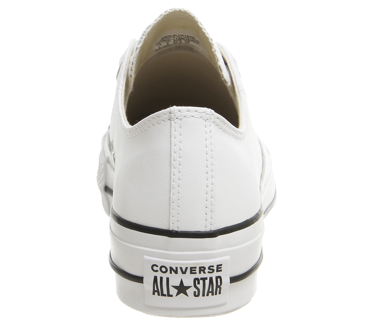 Converse Star Sh Leather Womens Trainers Low White Black All Lift dacWWqE