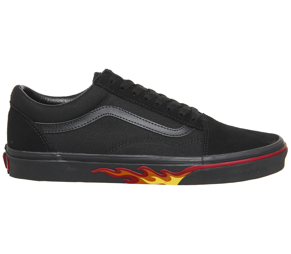 2f5e81cf07 Zapatillas para hombre Skool Negro llama Vans Old Pared Zapatillas ...