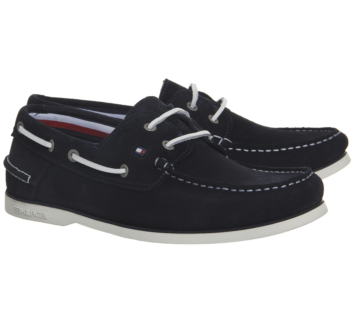 2e7fb39f32b4fc Mens Tommy Hilfiger Classic Boatshoes Midnight Suede Casual Shoes