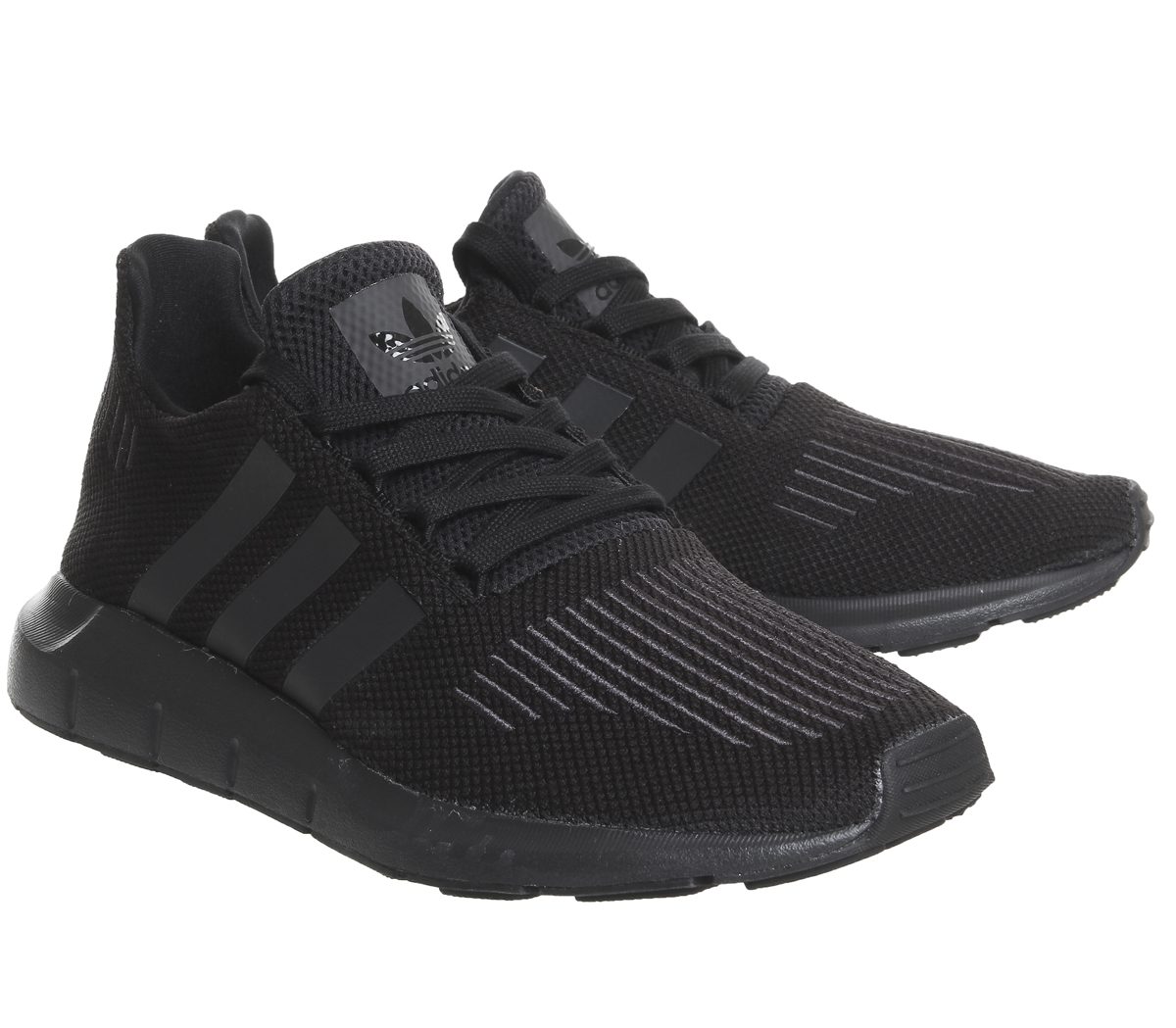 sports shoes f357b b0f66 CENTINELA Mujeres Adidas Swift ejecutar entrenadores MONO negro zapatos