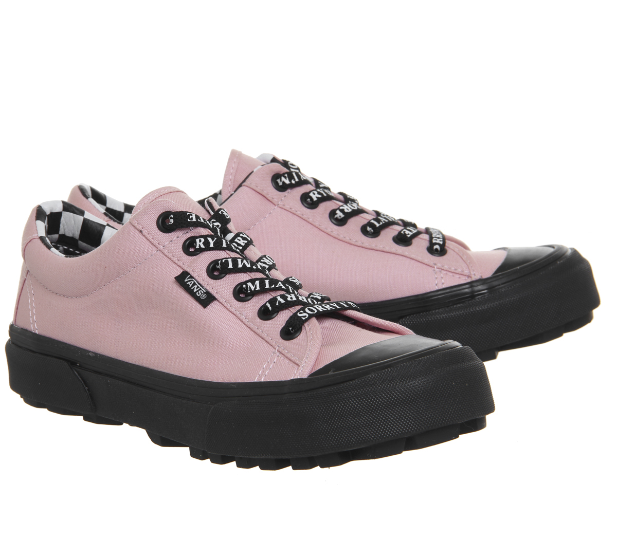 7d294fe2935 Womens Vans Style 29 Trainers Lazy Oaf Almond Blossom Black Trainers ...