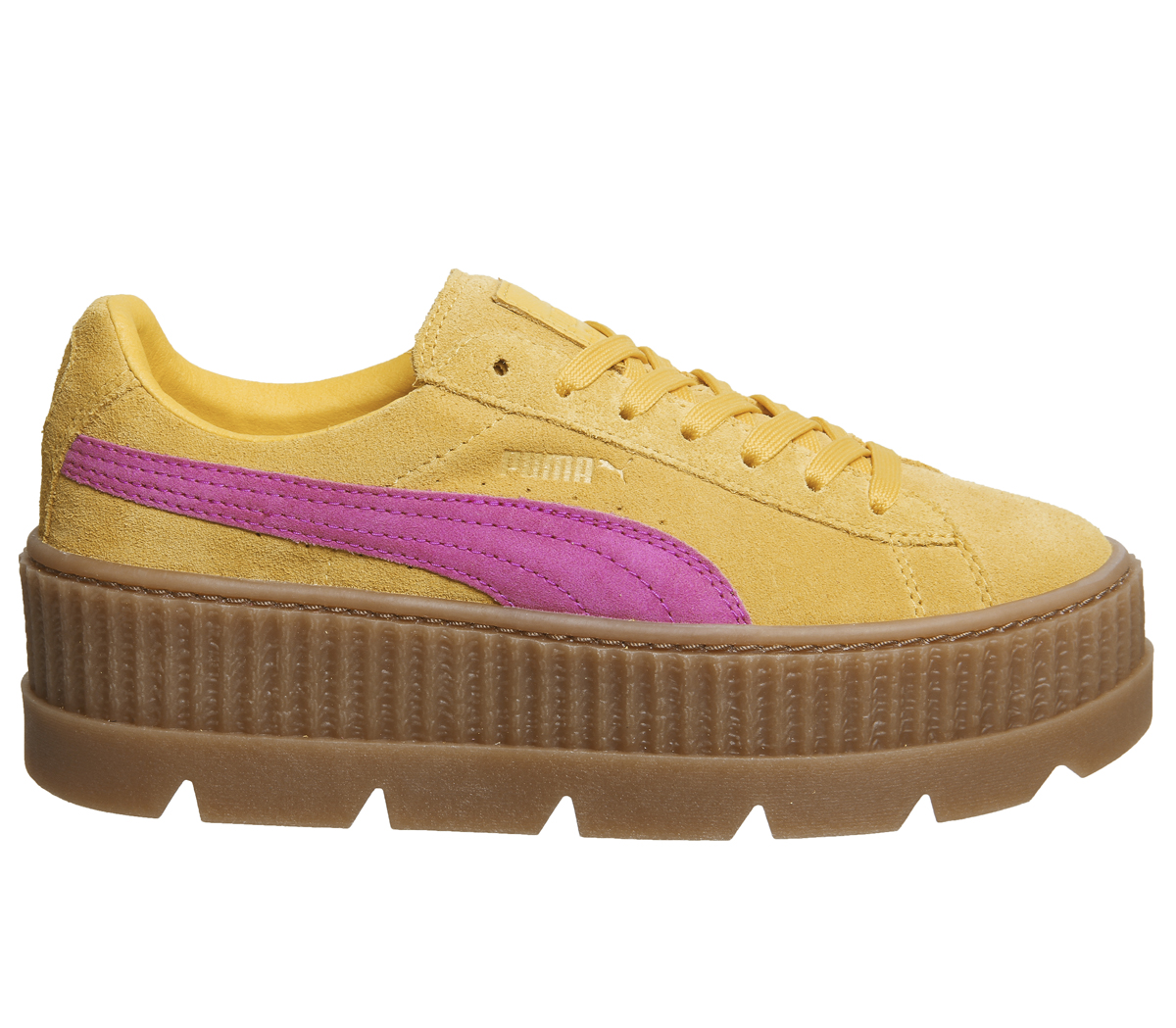 f1475b27a53 Sentinel Womens Puma Fenty Cleated Creepers LEMON CARMINE ROSE Trainers  Shoes