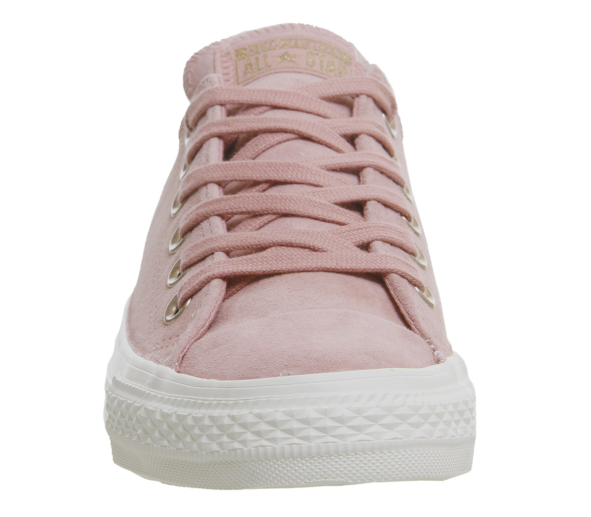 5b47494d727 Sentinel Womens Converse All Star Low Leather Trainers Rust Pink Mercury  Grey Metallic Ex