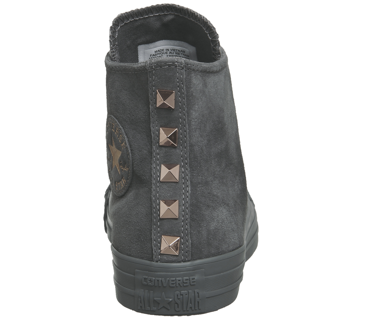 7ac6b726cea6 Sentinel Womens Converse All Star Hi Leather MASON GREY STUD EXCLUSIVE  Trainers Shoes