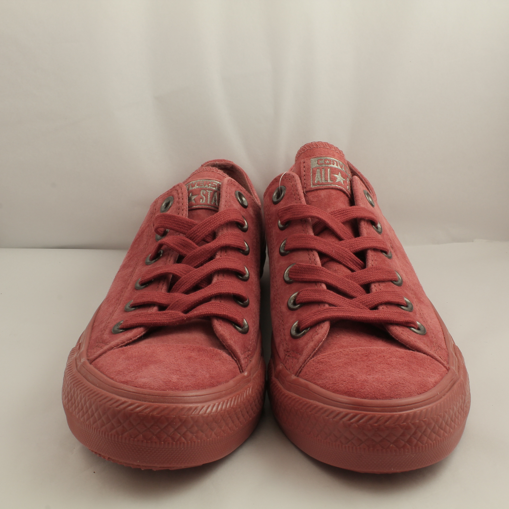 a83e91f9adcd Sentinel Thumbnail 1. Sentinel Mens Converse All star Low Leather ETRUSCAN  RED SUEDE Trainers Shoes ...
