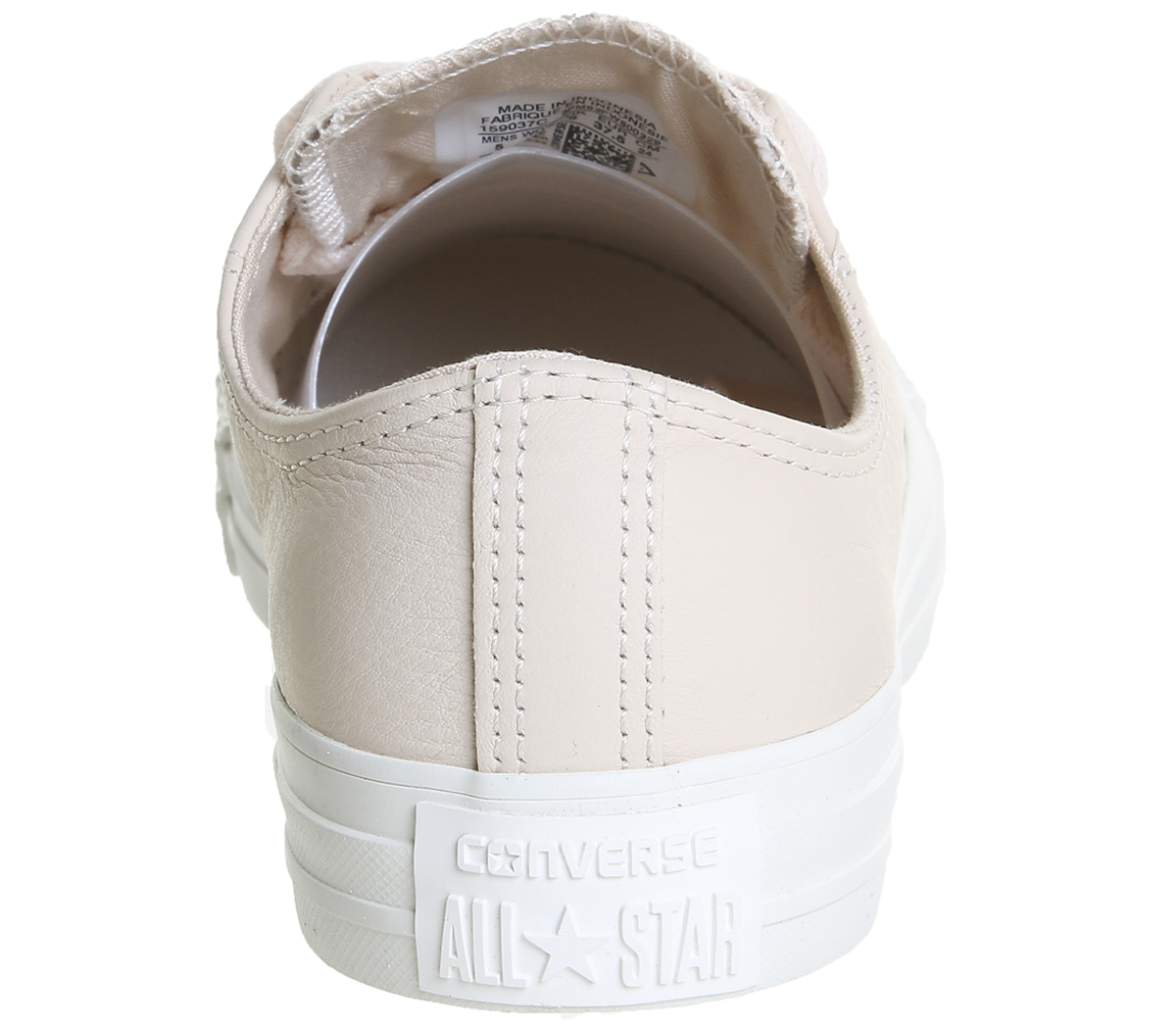 44627c3a921f Womens Converse All Star Low Leather Egret Pastel Rose Tan Blush ...