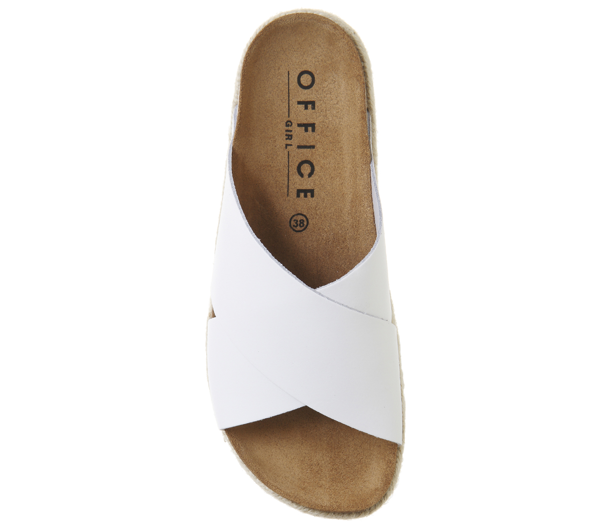 Womens Strap Cross Office Footbed Mexico Heels White AfqAwrz6