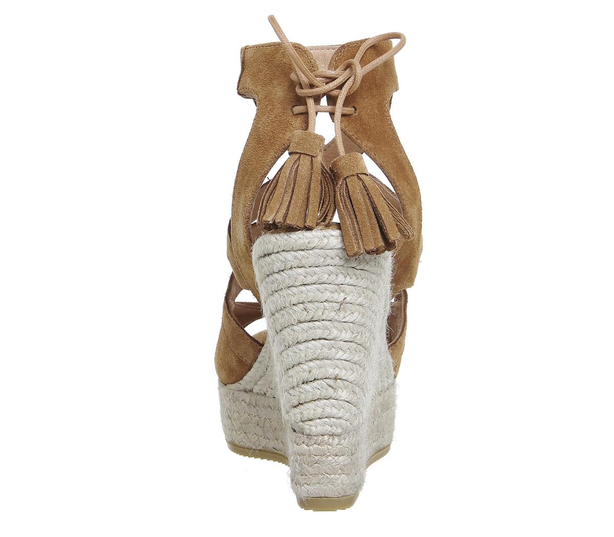 Damenschuhe Damenschuhe Damenschuhe Kanna Berti Back Tie Sandales TAN SUEDE 1459f9