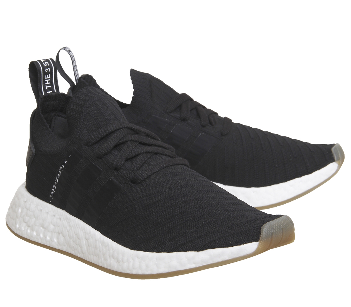 4232e5fe97e21 Mens Adidas Nmd R2 Pk Trainers Black White Trainers Shoes
