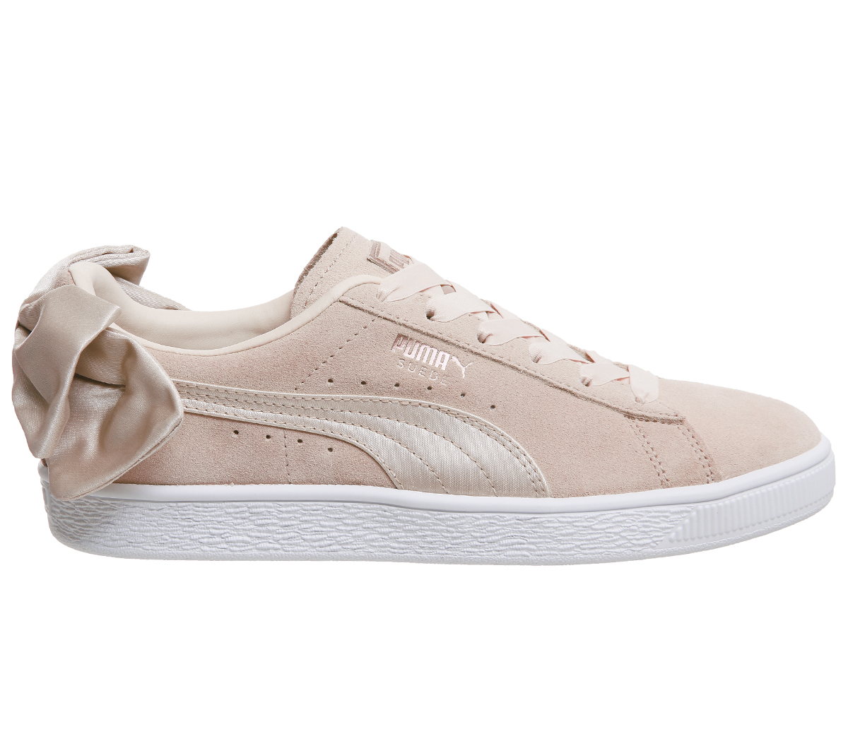 info for b6ee4 42a76 Details about Womens Puma Suede Bow Trainers CREAM TAN VALENTINE Trainers  Shoes